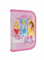 Pencil case filled 1 zip/1 flap Princess