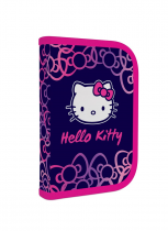 Pencil case filled 1 zip/1 flap Hello Kitty KIDS