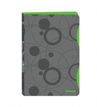 Ringbinder folder A4 polypropylen, 4 rings Duo Colori grey-green