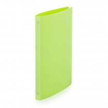 Ringbinder opaque A4, 4 rings lime