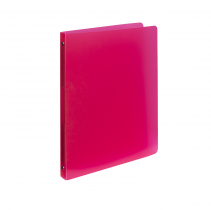 Ringbinder translucent A4, 4 rings Opaline red