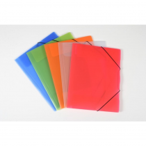3 flap folder A4 translucent OPALINE ECONOMY red