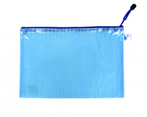 Mesh envelope with zipper A4 blue