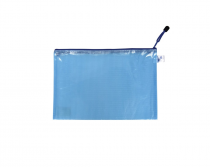 Mesh envelope with zipper A5 blue