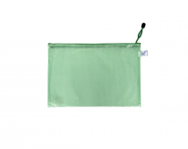 Mesh envelope with zipper A5 green