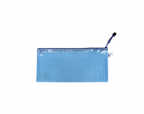 Mesh envelope with zipper DL blue
