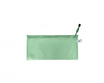 Mesh envelope with zipper DL green