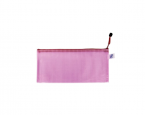 Mesh envelope with zipper DL pink