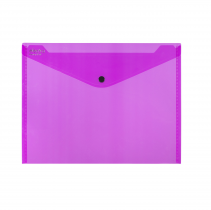 PP Envelope with button A4 ELECTRA pink