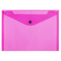 PP Envelope with button A5 ELECTRA pink