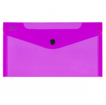 PP Envelope with button DL ELECTRA pink