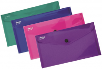 PP Envelope with button DL ELECTRA purple