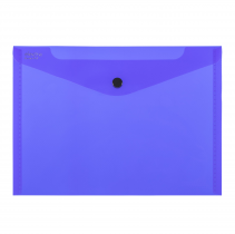 PP Envelope with button A5 ELECTRA dark blue