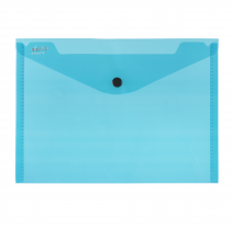 PP Envelope with button A5 ELECTRA dark green