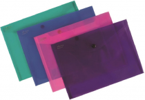 PP Envelope with button A5 ELECTRA purple