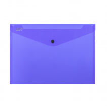 PP Envelope with button A4 ELECTRA dark blue