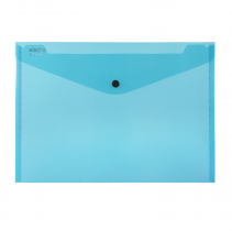 PP Envelope with button A4 ELECTRA dark green