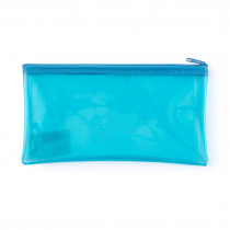 PP envelope with plastic zipper DL neon blue