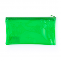 PP envelope with plastic zipper DL neon green