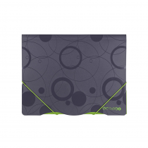 3 flap folder A4 non-transparent Duo Colori grey-green