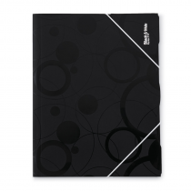 3 flap folder A4 non-transparent Black and White black