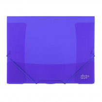 3 flap folder A4 ELECTRA dark blue