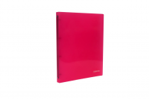 Ringbinder translucent A4 4 rings eCollection pink