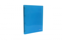 Ringbinder translucent A4 4 rings eCollection blue