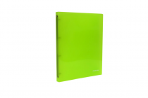 Ringbinder translucent A4 4 rings eCollection green