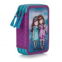 Pencil case triple unfilled Friends Walk Together