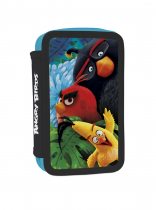 Pencil case unfilled triple Angry Birds Movie