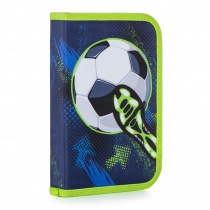 Pencil case filled 1 flap Football