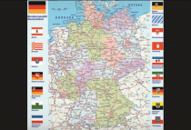 Desk pad 68x44cm Map of Europe in German language