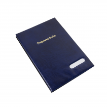 Signature book plastic Xepter 14 pages blue