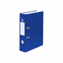 Lever arch file A4 5cm laminated blue