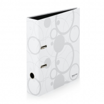 Lever arch file A4 7cm laminated Black and White white