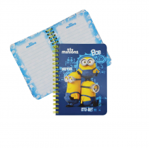 Twin wire notepad A5 MINIONS