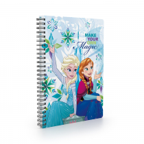 Twin wire notepad A5 Frozen