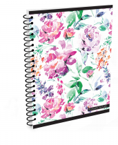 Twin wire notepad A4 Soft Romantic Nature Flower