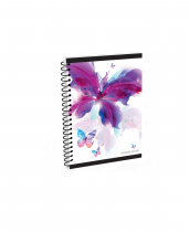 Twin wire notepad A6 Soft Romantic Nature Butterfly