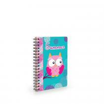 Twin wire notepad A6 Owl