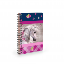 Twin wire notepad A6 Horse