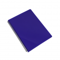 Twin wire notepad A4 PP Electra blue