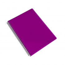 Twin wire notepad A4 PP Electra pink