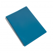 Twin wire notepad A4 PP Electra green