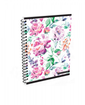 Twin wire notepad A5 Romantic Nature Flower