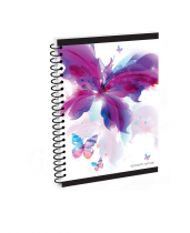 Twin wire notepad A5 Romantic Nature Butterfly