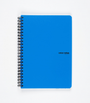Twin wire notepad A5 PP Color Office blue