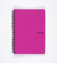 Twin wire notepad A5 PP Color Office pink