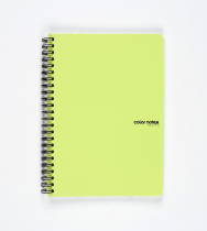 Twin wire notepad A5 PP Color Office green